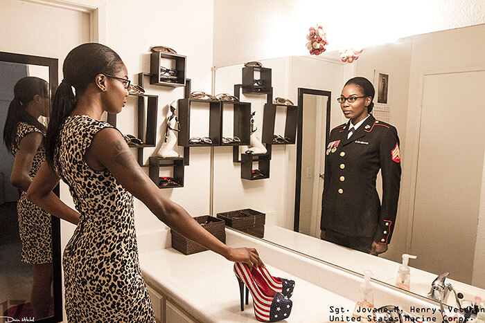 The Soldier Art Project, photos Devin Mitchell uniforme militaire vraie personne