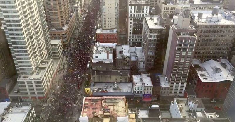 Millions March New York, vidéo Time-lapse protestations