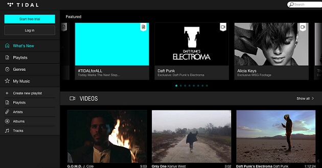 Tidal, service streaming musical