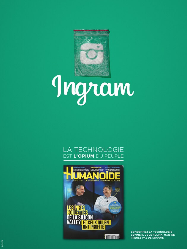 Humanoïde, addictions, technologies, drogues