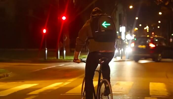 Clignotants cyclistes, sac à dos, go led, port designs