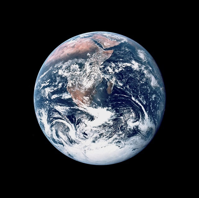 photo intégrale de la Terre, Apollo 17