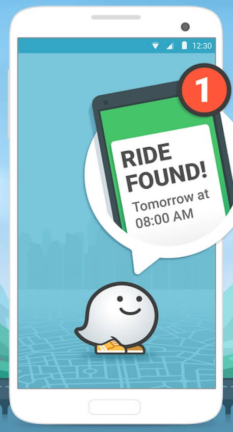 Ridewith, Waze, Google, covoiturage