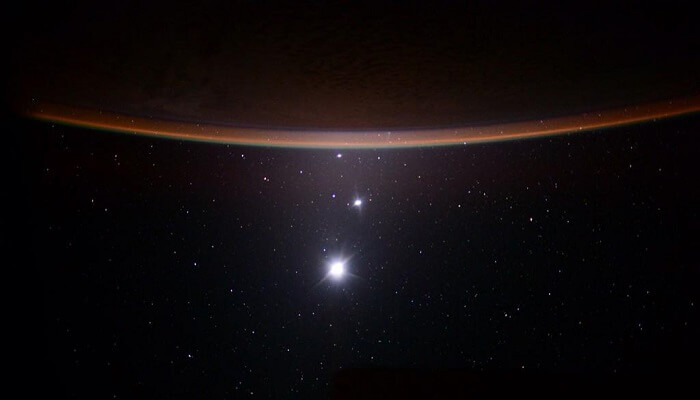 scott kelly, lune, venus, jupiter, terre, photo