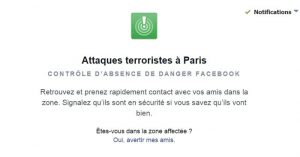 attentats de Paris, Safety Check, Facebook