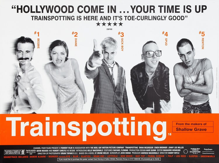 Affiche de film, Trainspotting