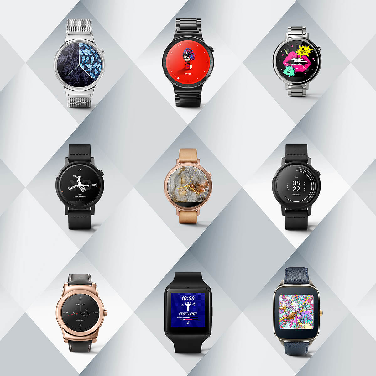 Android Wear, montres connectees, cadrans