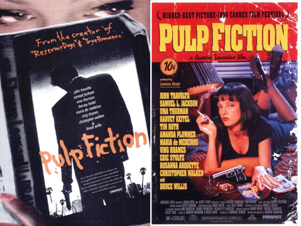 affiche de film non retenue: Pulp Fiction