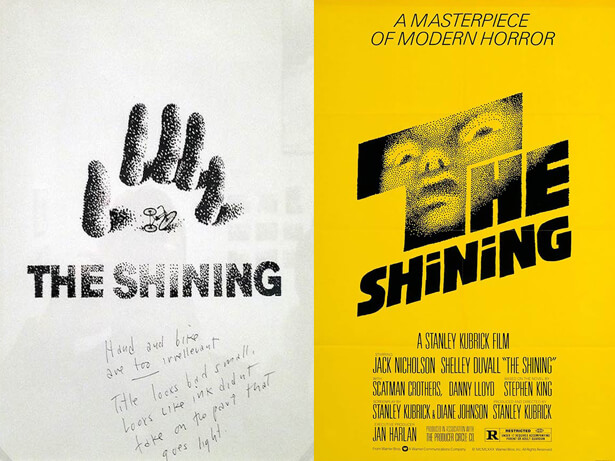 affiche de film non retenue: Shining