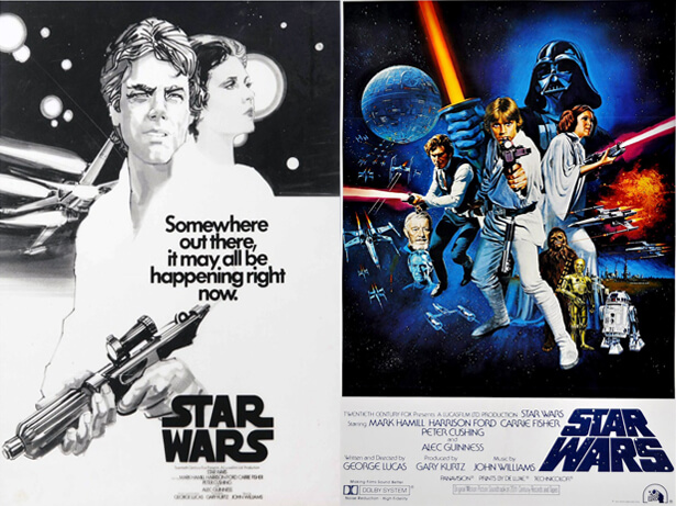 affiche de film non retenue: Star Wars Episode IV