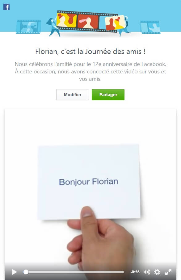 #FriendsDay, journée des amis, Facebook
