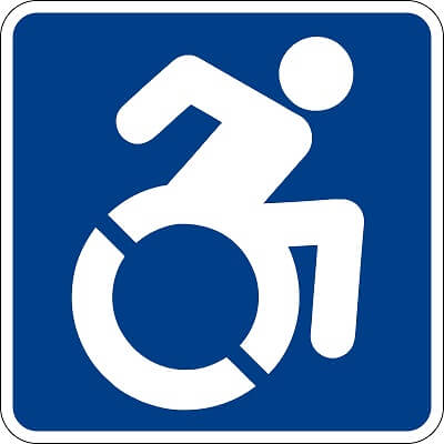 nouveau symbole international d'accessibilité