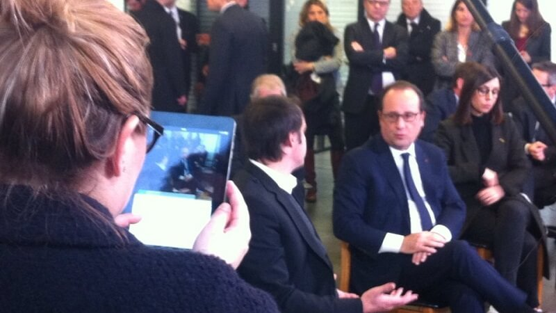 Francois Hollande, Periscope
