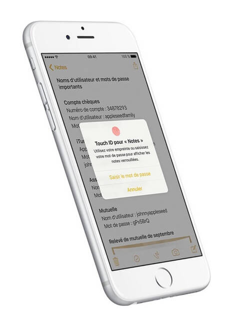 iOS 9.3 TouchID, notes
