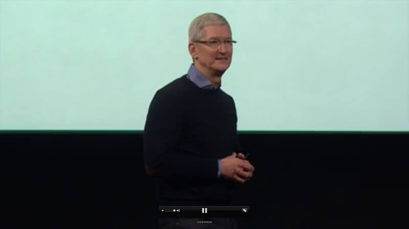 Keynote Apple, Tim Cook