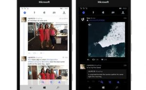 Twitter, Windows 10 mobile
