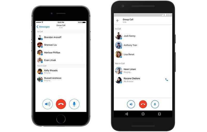 Appels video de groupe sur Facebook Messenger