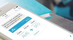 Facebook Messenger, carte d'embarquement KLM