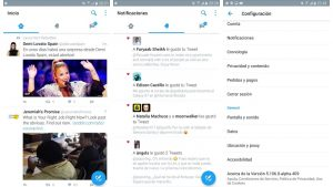 Twitter, Material Design, Android