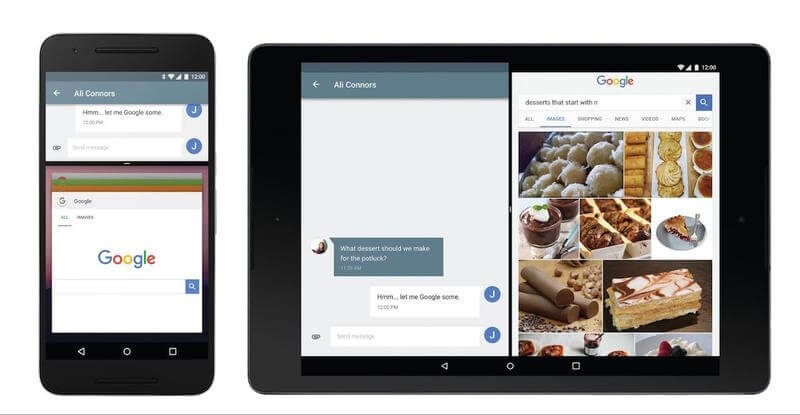 Android N, gestion multi-fenêtres