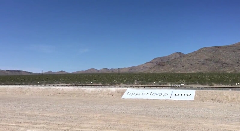 Hyperloop One, premier test dans le Nevada