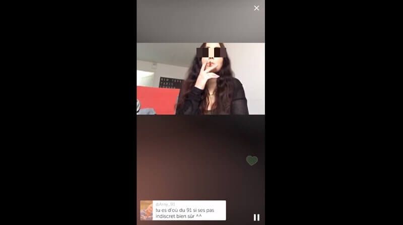 Suicide en direct sur Periscope, Oceane