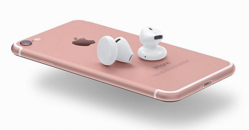 Earpods sans fil d'Apple pour l'iPhone 7