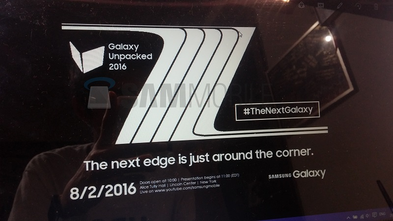 Samsung Galaxy Note 7 Edge, date de lancement