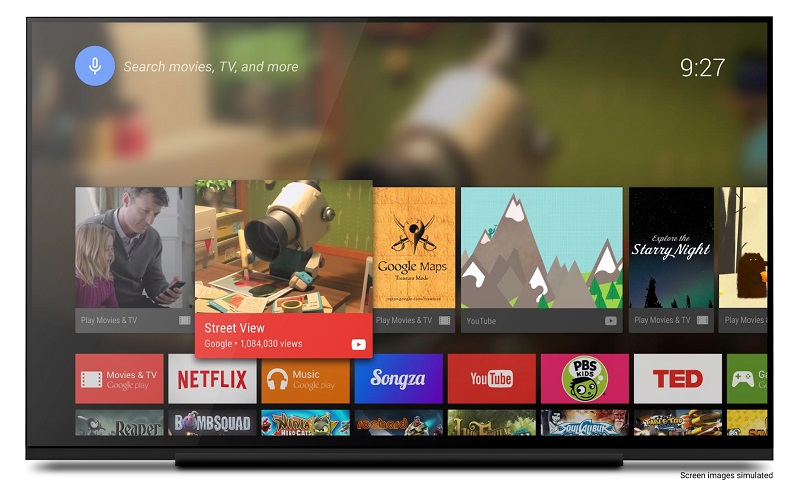 Android TV, picture in picture