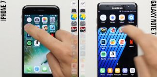 Test de rapidité entre l'iPhone 7 et le Galaxy Note 7