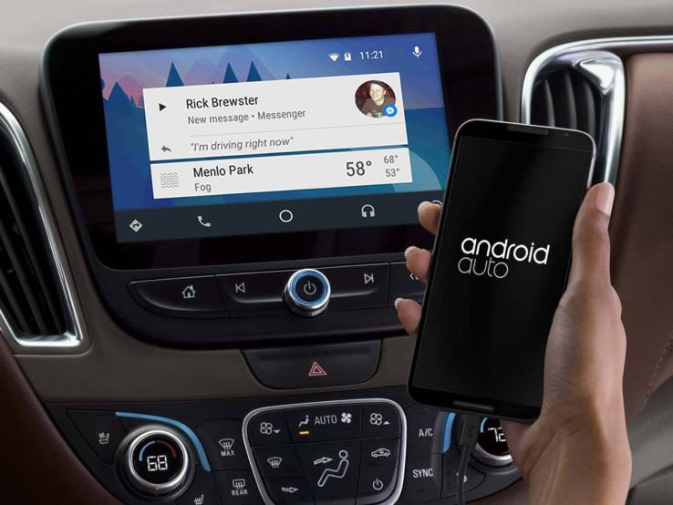 Facebook, Android Auto