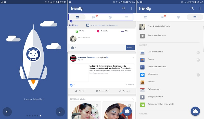 Application Friendly for Facebook